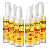 Everyone Hand Sanitizer Spray, 2 Ounce (Pack of 6), Travel Size, Coconut and Lemon, Plant...