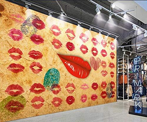 3D fototapete wandbild tapete bild lippenstift bekleidungsgeschäft schönheitssalon werkzeug hintergrund wand dekorative wand moderne wand dekoration-430 * 300 cm