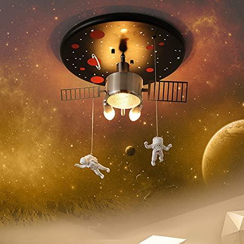 Moderno LED Habitación Para Niños Luz De Techo Espacio Astronauta Lámpara Colgante Lámpara De Techo De Dormitorio Regulable Iluminación De Dibujos Animados Creativa Araña Jardín De Infantes,40cm