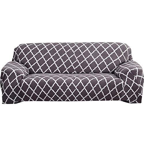 XHNXHN Funda de sofá de alta elasticidad, elegante, moderna, para sofá, silla, sofá de 4 plazas, color gris