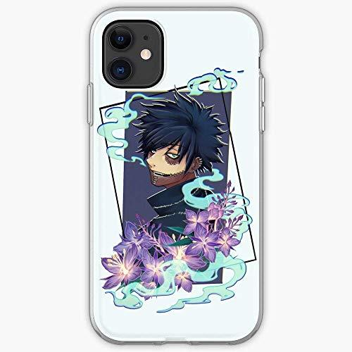 Boku Hero No Bnha Flowers Academia Anime Dabi Compatible con iPhone 12/12 Pro MAX 12 Mini 11 Pro MAX SE 2020 X/XS MAX XR 8/7 6/6s Plus Caso Cajas de teléfono de TPU Suave