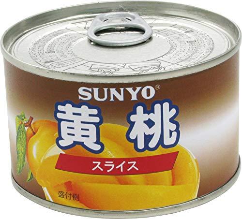 サンヨー おおきめひとくちスライス 黄桃 EO缶 227g ×24個