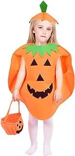 Jack O Lantern Halloween Pumpkin Costume Set for Kids Orange Children Cosplay Party Clothes