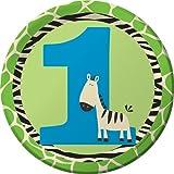 zebra birthday party plates