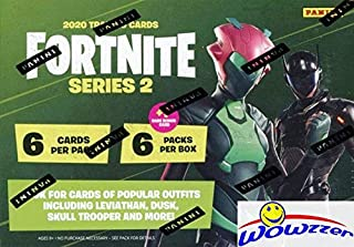 2020 Panini FORTNITE Series 2 Trading Cards EXCLUSIVE Factory Sealed Blaster Box with 36 Cards with RARE BONUS CARD! Look for Holofoil & Optichrome Holo Parallels & New Outfits & Map Cards! WOWZZER!