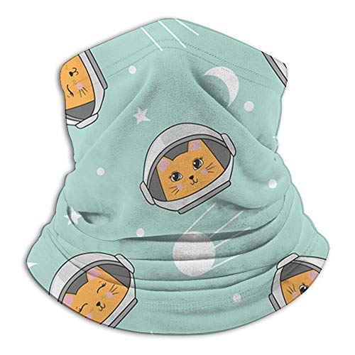 Have You Shop Espacio infantil Gatos lindos Bufanda con cara de gato Pasamontañas informal Sombreros Pañuelo elástico Diademas Protección contra el viento/sol/rayos UVA