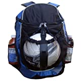 Royal Blue and Black Sport Backpack with Ball Pocket for Soccer, Football, Futbol, Basketball, Volleyball