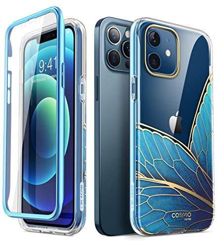 i-Blason Glitzer Hülle für iPhone 12 / iPhone 12 Pro (6.1'') Handyhülle 360 Grad Case Bumper Schutzhülle Cover [Cosmo] mit Displayschutz 2020, Blau2