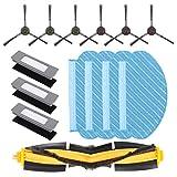 DingGreat Accessori di Ricambio per Robot aspirapolvere ECOVACS DEEBOT OZMO920/ ECOVACS DEEBOT OZMO 950-1 Spazzola Principale, 6 spazzole Laterali, 3 Filtro, 4 Panno di Pulizia