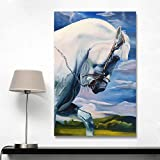 RTCKF Animals HD Canvas Oil Paintings Strength Horse Wall Art Posters for Living Room Modern Home Decor Pictures 40x60CM (Frameless)