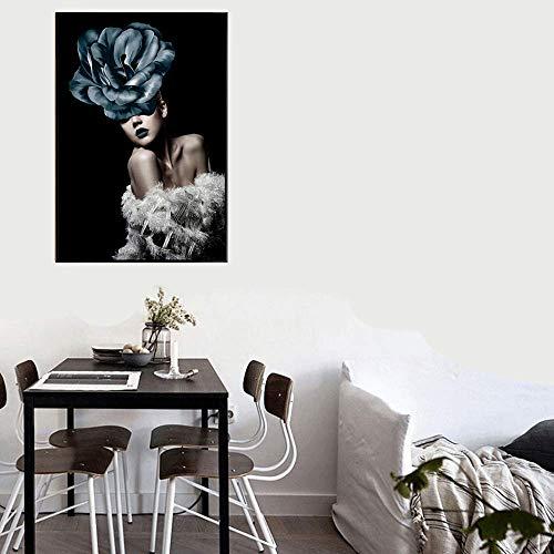 KFDQ Novela Tapices, Moderna Minimalista Interior de la Casa Pintura Habitación Sala Corredor Lienzo Marco de la Pintura de Inyección de Tinta Cinturón Exterior Atractivo Belleza 43 × 63Cm