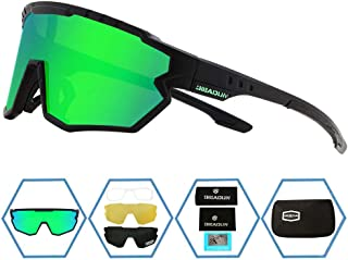 GIEADUN Sports Sunglasses Protection Cycling Glasses Polarized UV400 for Cycling, Baseball,Fishing, Ski Running,Golf