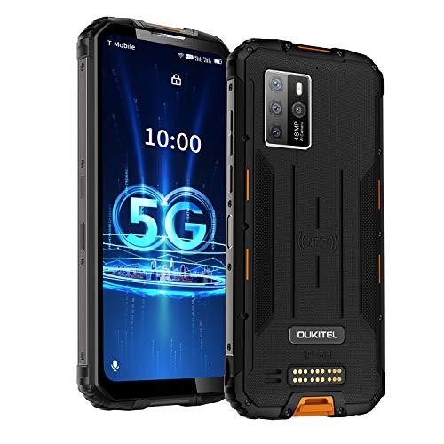 Móvil Resistente OUKITEL WP10 5G Movile Versión Global 8GB RAM+128GB ROM 8000mAh móviles y Smartphones Libres 6.67'' FHD Pantalla Completa MeditaTek 48MP Teléfono con cámara cuádruple NFC/Google Pay