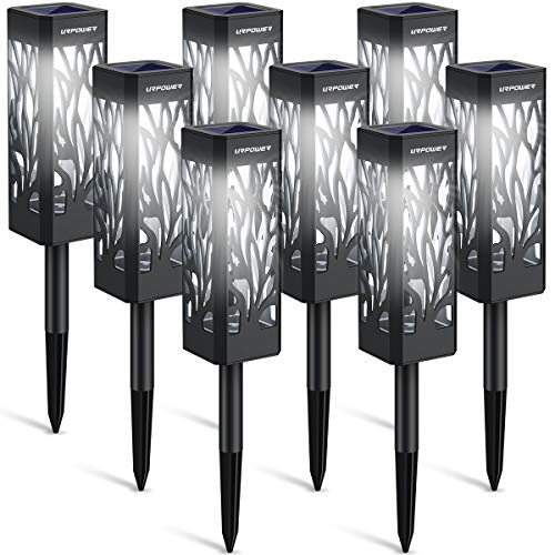 URPOWER Solar Lights Outdoor Upgraded Solar Pathway Lights with Bigger