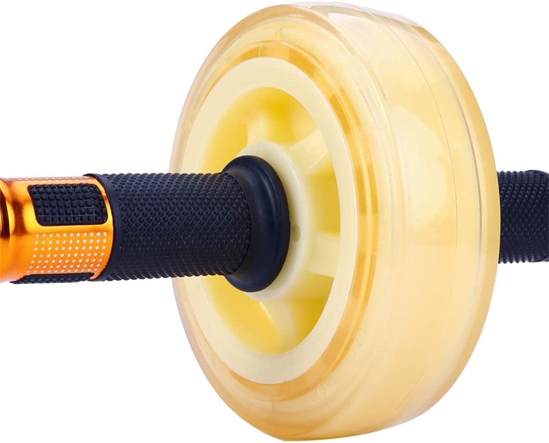 LiyaAbdominal ABラウンド、腹部ホイール家庭用フィットネス機器ユニセックスに適した腹部モーションローラー (Color : 白い)