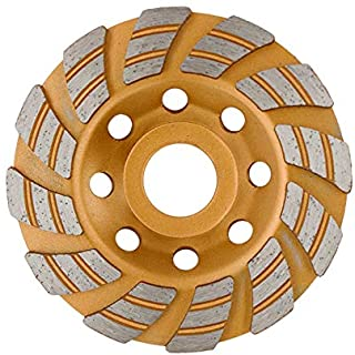 """FINGLEE DT 4 Inch Diamond Grinding Cup Wheel for Angle Grinder,Concrete Stone Masonry Polishing,12 Unique segs,with 4/5"""" 5/8"""" Adapters"""