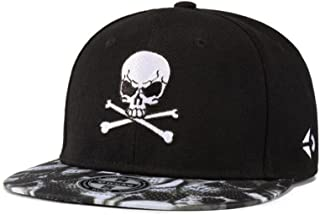 52c1db5a5e247 Men Hip Hop Hat Street Skateboard Hat Women Skull Embroidery Flat Baseball  Cap