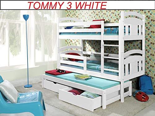 Bunk Beds Etagenbetten aus Holz für 3 Personen, Massivholz