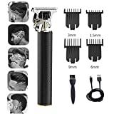 Hair Clippers,Trimmer Cordless Rechargeable Grooming Kits Close Cutting T-Blade Trimmer for Men 0mm...