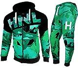 Chándal de camuflaje HNL para hombre por 'Flirty Ward' con capucha y pantalones de pista 841