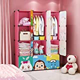 MAGINELS Children Wardrobe Kid Dresser Cute Baby Portable...