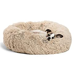 SUPPORTS BETTER SLEEP: Thanks to its round shape, our high-quality zippered Donut Cuddler cat and dog bed is ideal for pets who love to curl up; The raised rim creates a sense of security and provides head and neck support, while the super soft filli...