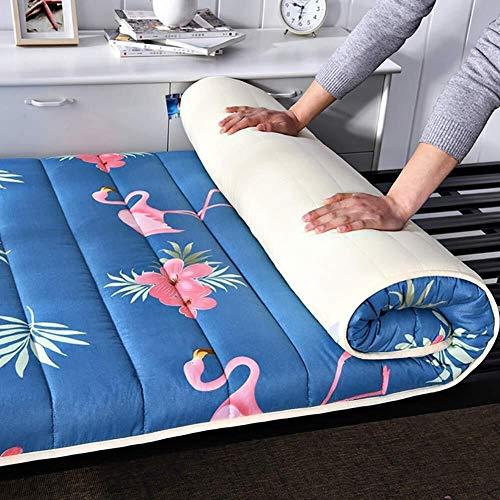 Huan Japonés Espesar futon Tatami colchón Amortiguador, Dormir Tatami Suelo, Tatami Colchón en el Piso, cubrecolchón Almohada, mattres Cama Plegables, A, 90x200cm (Color : C, Size : 150x200cm)
