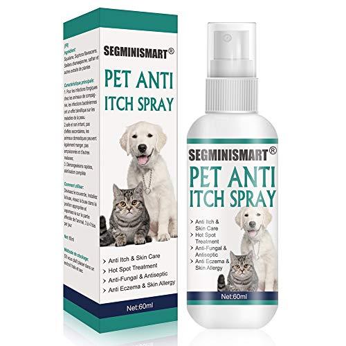 SEGMINISMART Perros para Piel con picor,Soluciones para el picor,Alivio de la comezón y Cuidado de la Piel,Spray para Dermatitis, Hot Spots, Picores, Enrojecimientos e Irritaciones