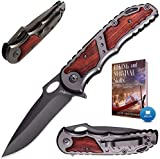 Pocket Knife - Spring Assisted Knife - Tactical Survival Folding...