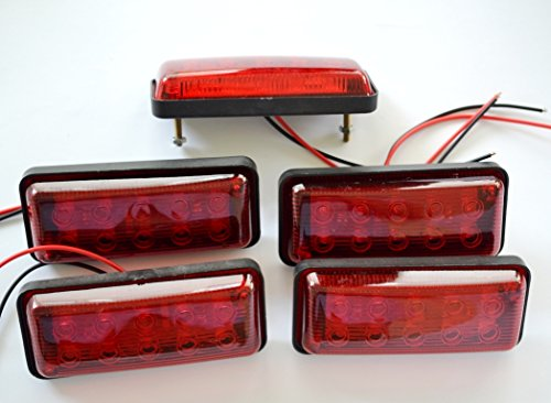 LED 24V voor vrachtwagen, caravans, aanhangers, frame, vrachtwagen, camper, bussen, achterlicht, zijverlichting, 5 stuks