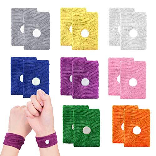 Akupressur Armband, 8 Stück Seekrankheit Armbänder gegen übelkeit Anti-Übelkeit Bänder Akupressurband für Seekrankheit Schwangerschaft Fliegen Reiseübelkeit