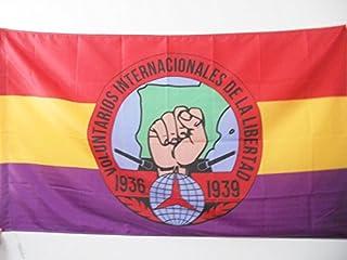 AZ FLAG Bandera de ESPAÑA Republicana Voluntarios Libertad 150x90cm para Palo - Bandera BRIGADES INTERNCIONALES Republica ...