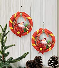 TIED RIBBONS Christmas Decoration Wreath for Door & Wall- Pack of 2