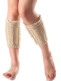 Calentadores De La Corta Las Pierna Mujeres De Con Encaje Estilo Simple Recorte Moda Crochet Knit Boot Calcetines Primavera Verano Joven Moda Casual Cómodo