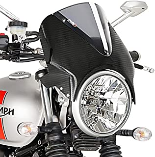 Puig 003CH Smoke and Carbon Look WindShield (New Generation Ducati Monster 821/821 Stripe/1200/S)