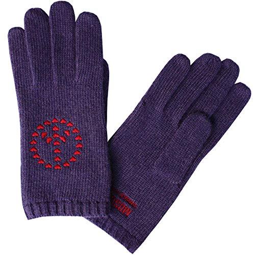 Moschino Handschuhe Violett kleine Herzchen, unisize