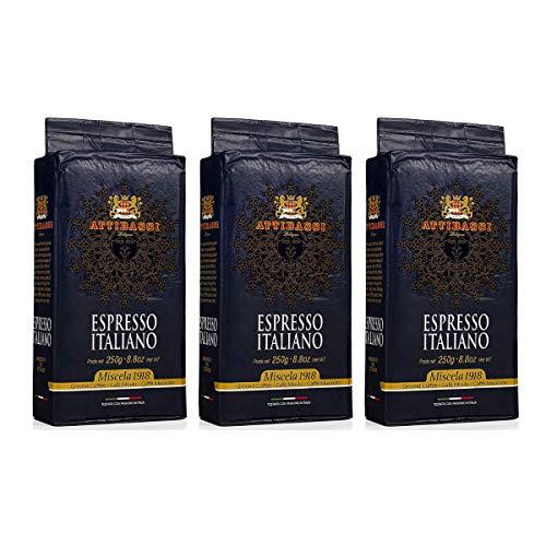 Attibassi Espresso Italiano Medium Roast Premium Ground Coffee 8.8 oz. - Pack of 3