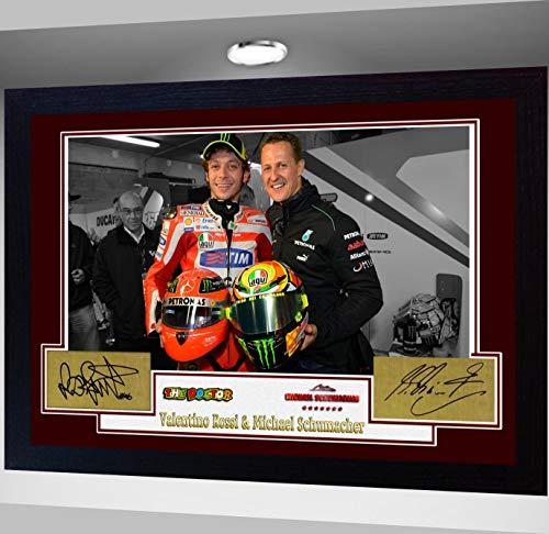 Gerahmter Fotodruck von SGH SERVICES V & Michael Schumacher, mit Autogramm