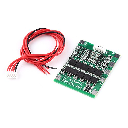 4Series 30A 14.8V BMS PCB Batterie Schutzbrett mit Ausgleichfunktion für 18650 Li-Ion Lithium Batterie Zelle mit Draht