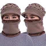 CYGG - Gorro para mujer, diseño de babero, para invierno, cálido, para el hogar, para el aire libre, más cálido