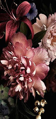 Hochwertiger Textilbanner Herbst/Herbstlich – Große Auswahl – 180cmx90cm – Einseitig Bedruckt - Schaufenster Deko - Wanddeko/Textilbild/Herbstdeko (Paeonien)