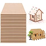 Fabbay 20 Pieces Basswood Sheets Thin Wood Sheets Craft Wood Board Unfinished Plywood for Craft DIY Wooden Plate Model Wooden House Aircraft Ship Boat School Projects (12 x 8 x 1/16 Inches)