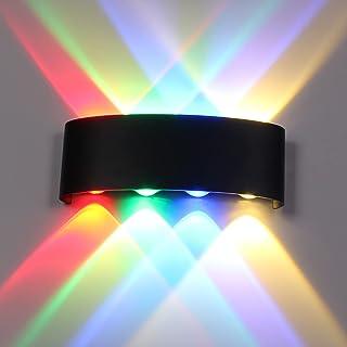 TWSXTE Ip65 Wandleuchte Außen LED10W up down Wandleuchte RGB Wandbeleuchtung Wohnzimmer, Aluminium Terrassenleuchten, Mode...
