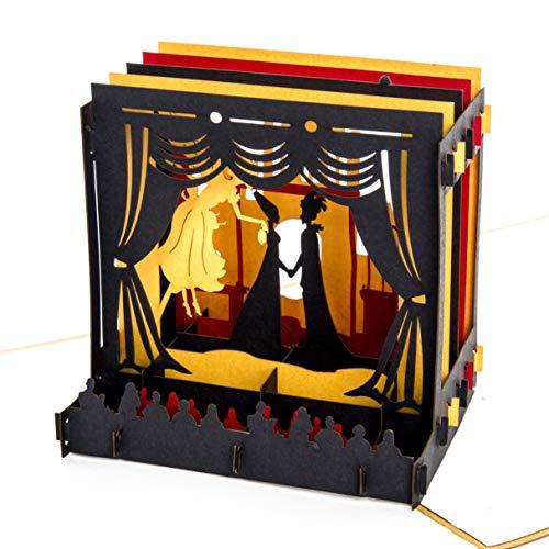 """Pop-Up Karte """"Theaterbühne"""" Theatergutschein, Einladung, Geburtstagskarte, edle goldene 3D Karte Theater - 3"""