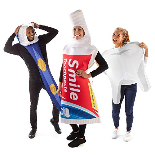Brush Your Teeth Group Halloween Costume - Toothbrush, Toothpaste, Tooth Outfits