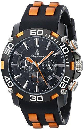 Burgmeister Armbanduhr für Herren mit Analog-Anzeige, Chronograph mit Kunststoff Armband - Wasserdichte Herrenarmbanduhr mit zeitlosem, schickem Design - klassische Uhr für Männer - BMT01-622D Imola