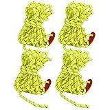 Cuerda para tienda de campaña al aire libre de 4 piezas, cuerda para toldo de camping resistente al viento de 4 mm, cuerda de nailon reflectante para tienda con hebilla de ajuste de cable de viento de