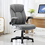 B2C2B Velvet Fabric Executive Office Chair Computer Desk Chair Ergonomic Adjustable Racing Chair Task Swivel Chair Armrest and Lumbar Support (Grey)