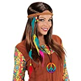 Cinte de Pelo con Plumas - Colorido | Banda de Cabello Hippy | Accesorio Pocahontas | Adorno de Cabeza Años 70