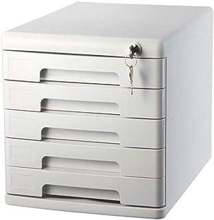 ZDAMN Armoire de Bureau Bureau Rangement Armoires de Bureau Classeur Bibliothèque avec Classeurs Desktop Lock 5 Couches Ca...